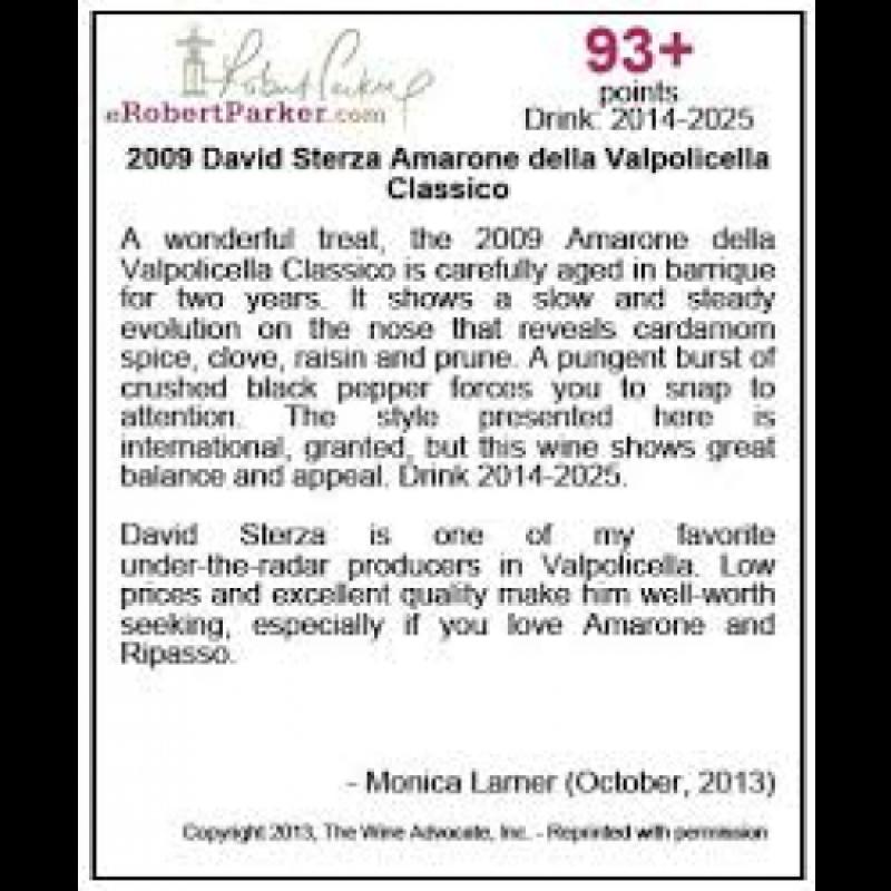 David Sterza, Amarone della valpolicella 2013