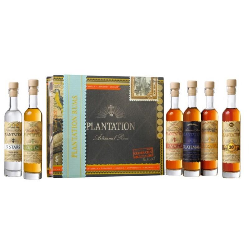 Plantation, Cigarkasse gaveæske 6 x 10 cl.-35