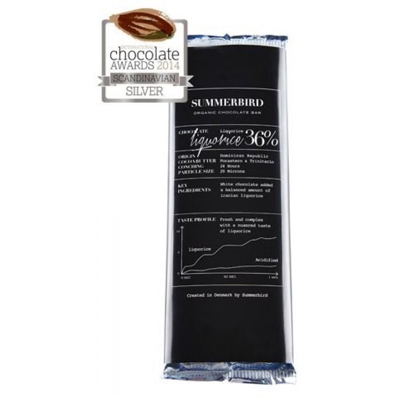 Summerbird, Liquorice Chokoladebar 36%-35