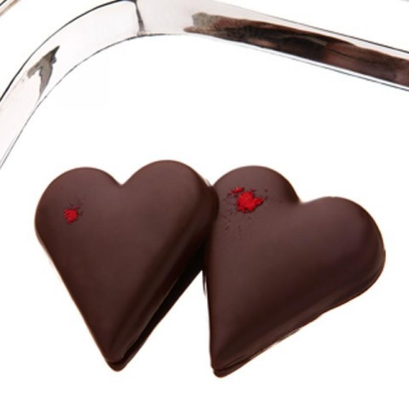 Summerbird, 2 Hjerter med marcipan og chokolade