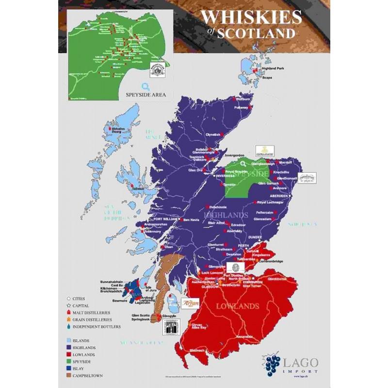 Whiskykort, skotske destillerier-35