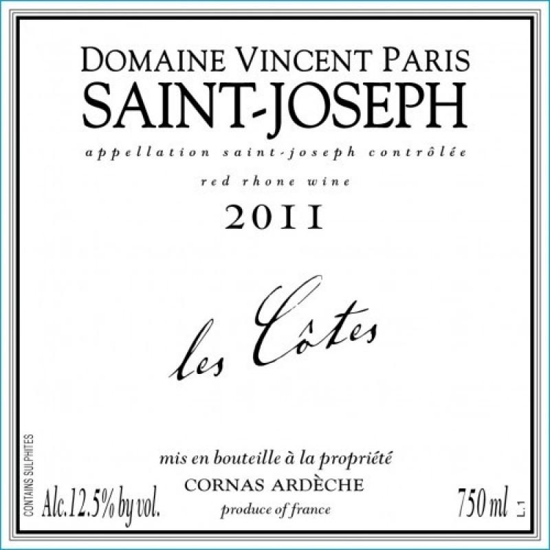 Domaine Vincent Paris, Saint Joseph, Les Côtes 2015-35