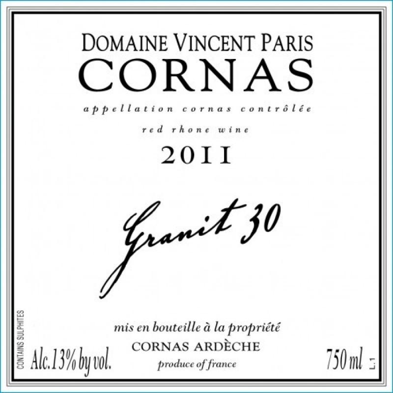 Domaine Vincent Paris, Cornas Granit 60, 2015-35