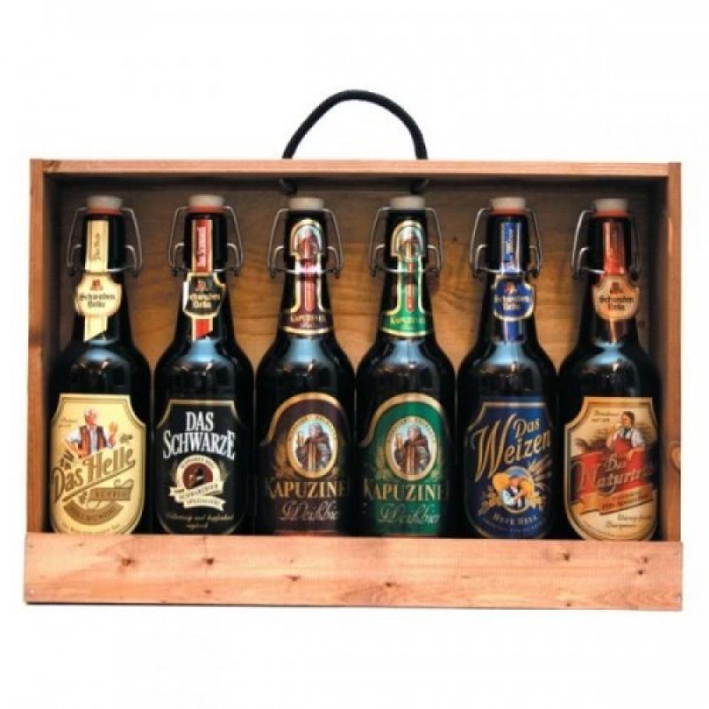 Trækasse med 6 tyske øl
