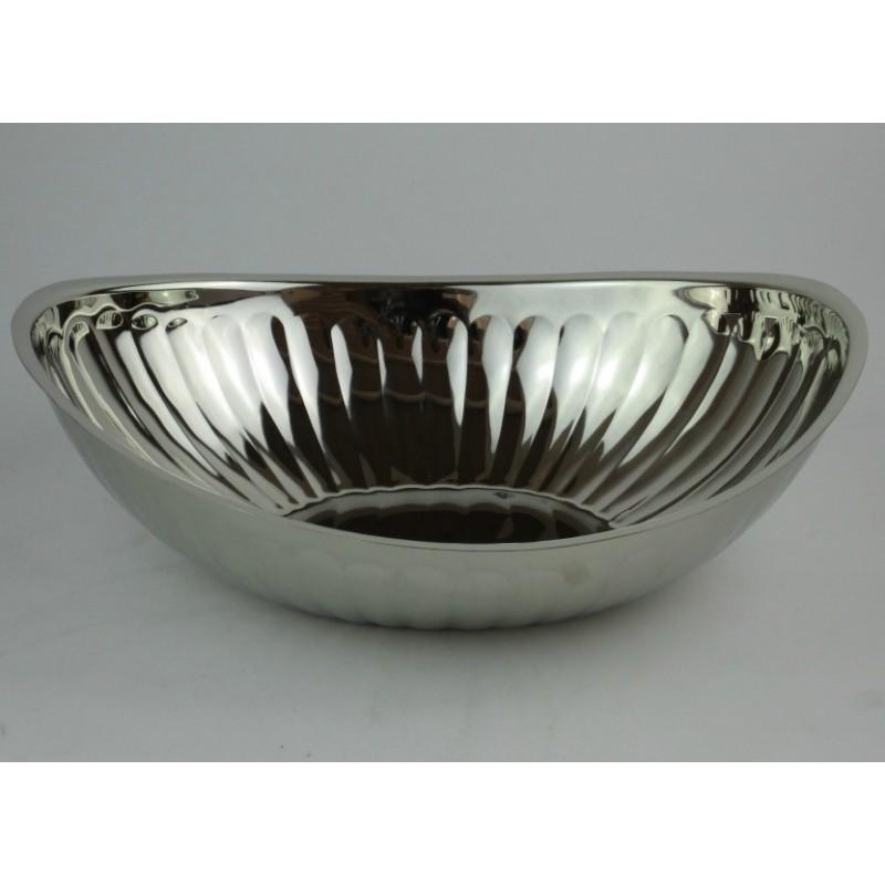 Forkromet Oval Skål L 30 B 22 cm.-35