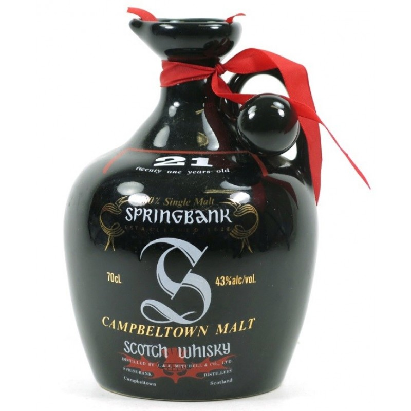 Springbank 21 års, Single Malt Whisky, Ceramic Decanter