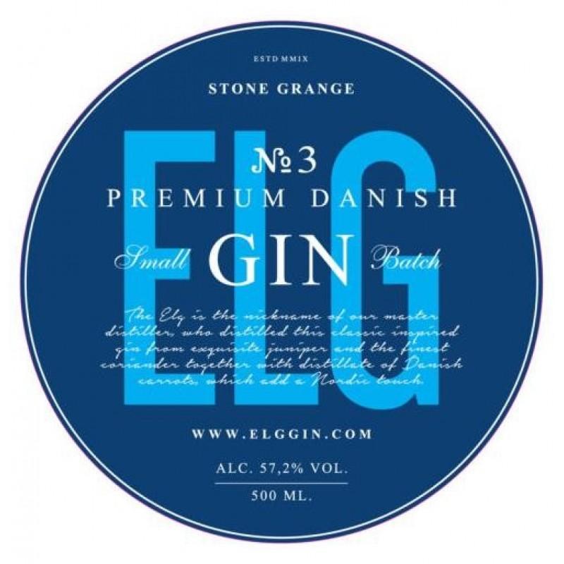 Elg Gin No. 3, Danish Premium Gin - Navy Strength