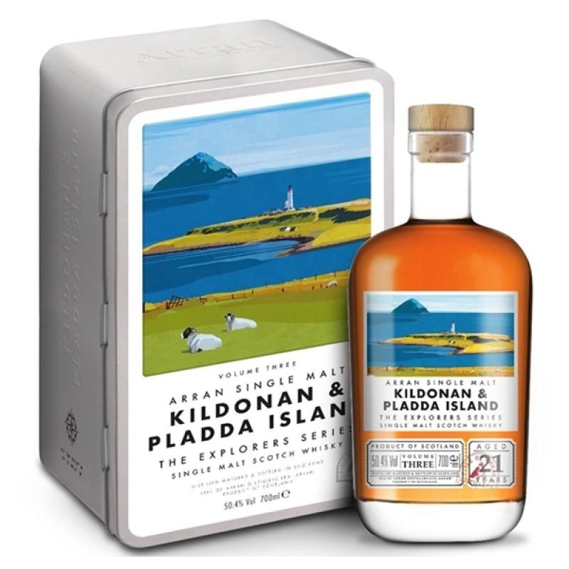 Arran, Kildonan and Pladda Island, vol 3. The Explores Series, Single Island Malt Whisky 21 års