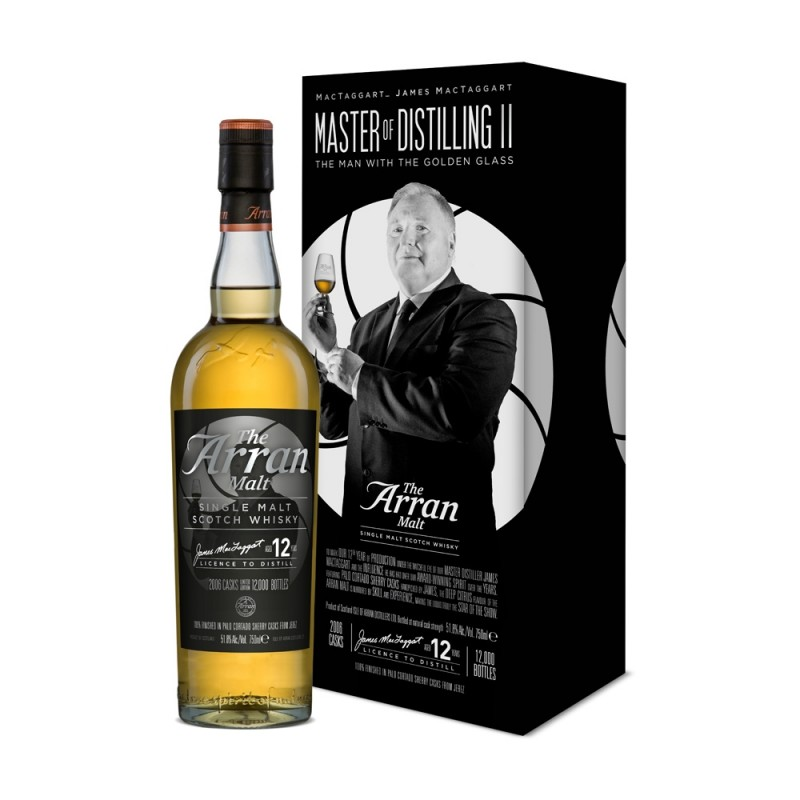 Arran, Master of Distilling, Edt. 2 James MacTaggart, 12 års Single Malt Whisky