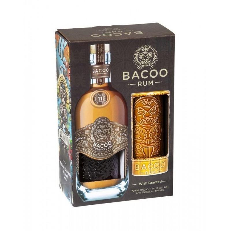 Bacoo Rum, 11 års, Gaveæske med Tika krus