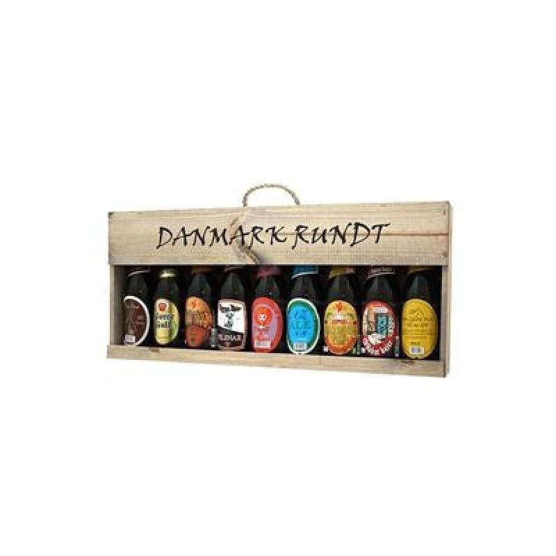 Danmark Rundt øl i flot trækasse