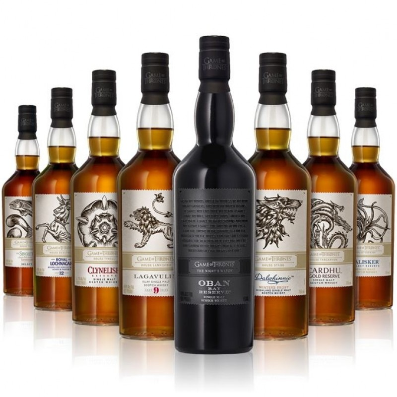 Game of Thrones, The Night Watch, Oban, Bay Reserve, Single Malt Whisky