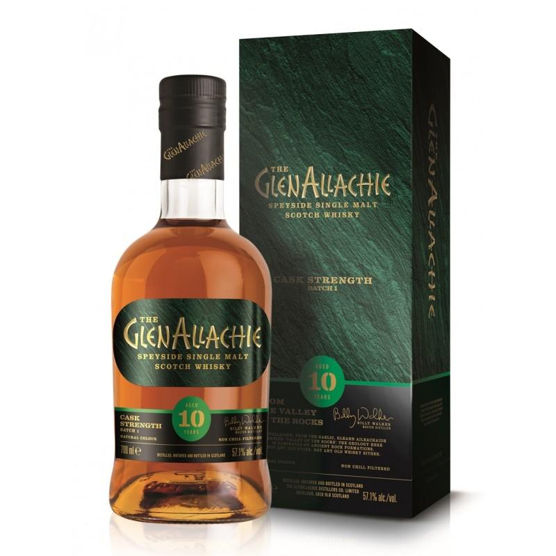 The GlenAllachie 10 års, Speyside Single Malt Whisky, Cask Strenght, Batch 1