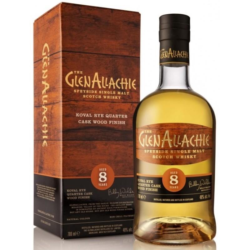 The GlenAllachie 8 års, Speyside Single Malt Whisky, Koval Rye Quarter Cask 48%