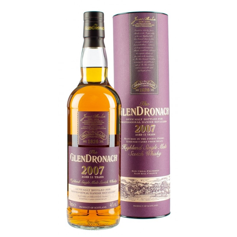 GlenDronach, 11 Years Old Highland Single Malt Whisky 46% (P.X. Sherry Casks) 2007