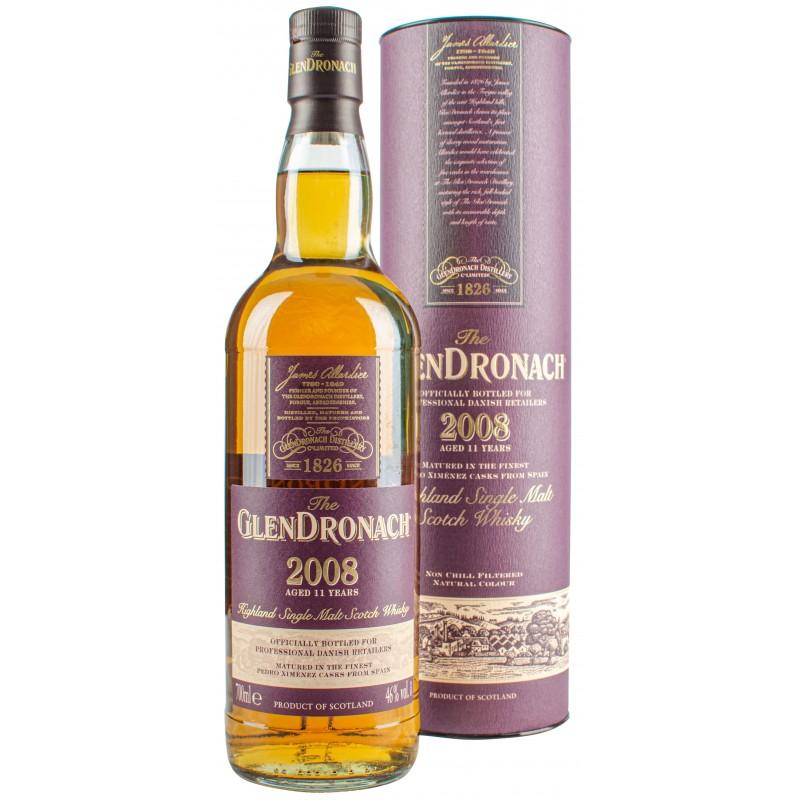 GlenDronach, 2008 11 Years Old Highland Single Malt 46% (P.X. Sherry Casks)
