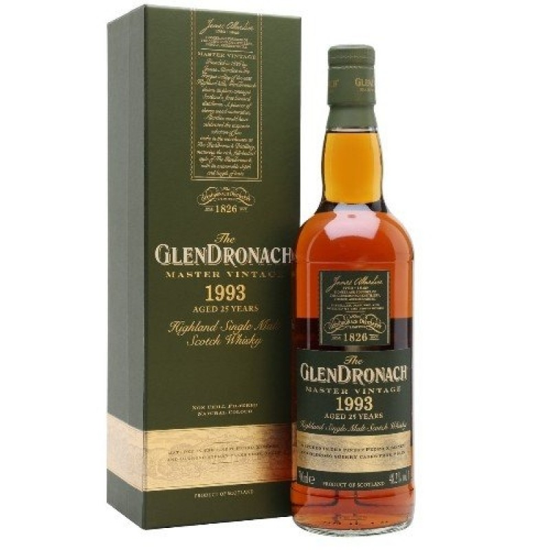 GlenDronach, Master Vintage 1993 Single Malt Whisky, 25 yo