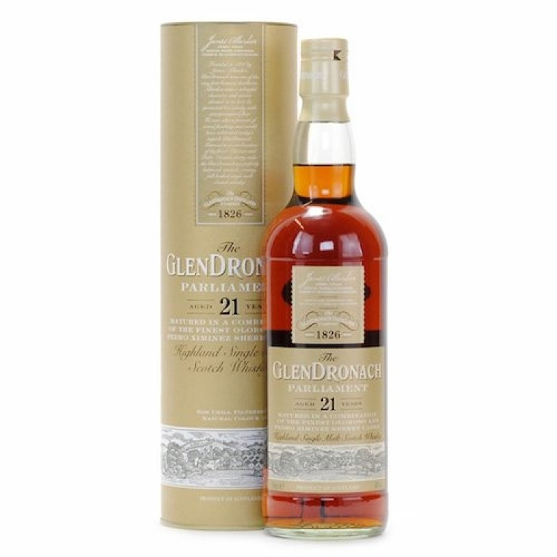 GlenDronach, Parliament, 21 års Single Malt Whisky,