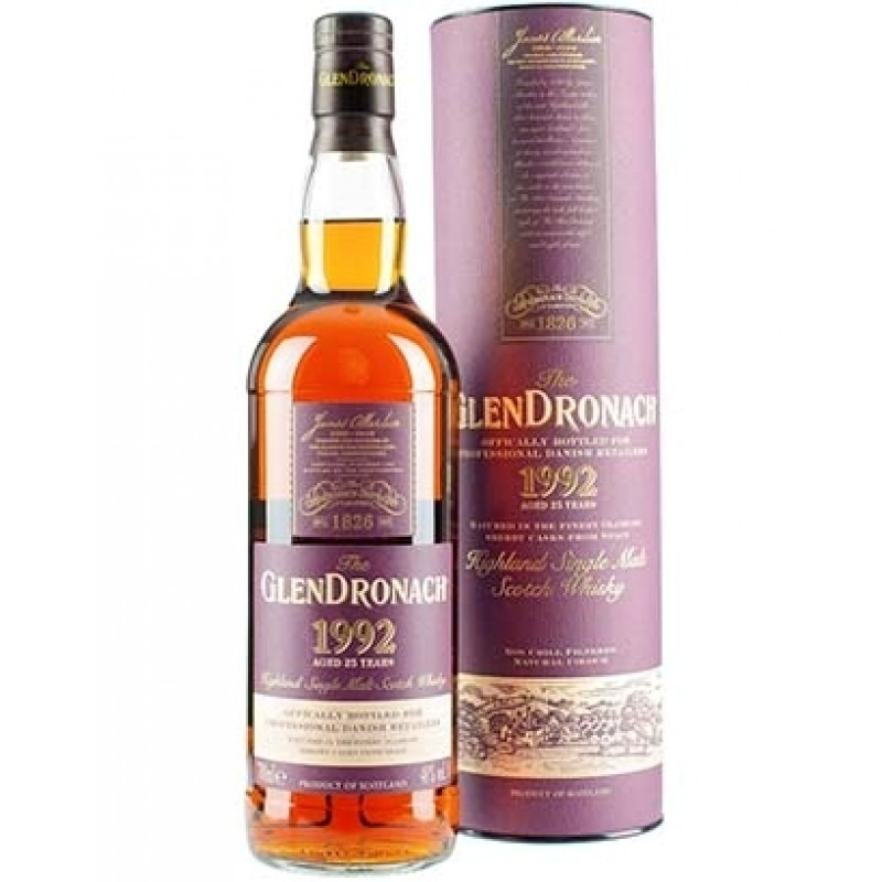 GlenDronach, Vintage 1992, Single Malt Whisky 25 års