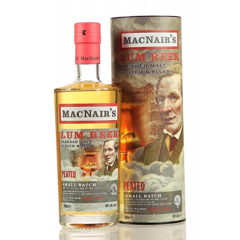 Macnair´s Lum Reek, Peated Blended whisky 46 %