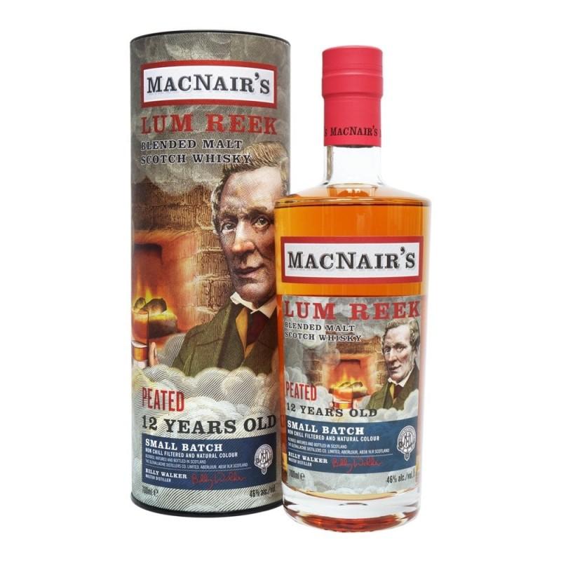 Macnair´s Lum Reek, Peated Blended 12 års whisky 46 %