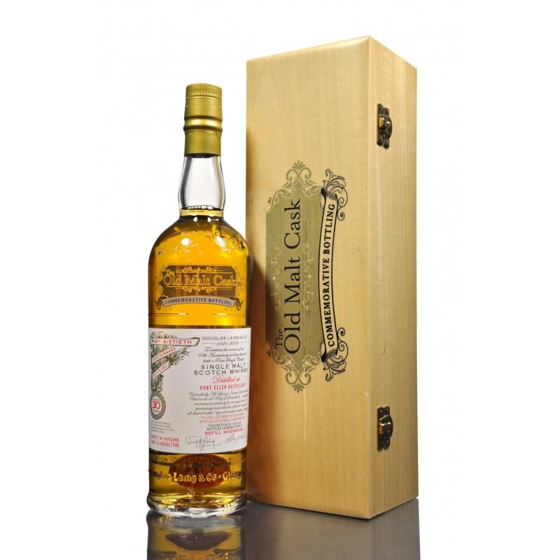 Port Ellen, 1982, 60th Sixtieth Anniversary, 30 års, Single Malt Whisky, The old malt cask