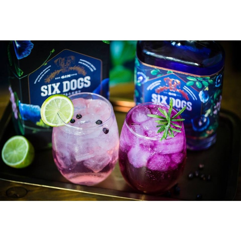 Six Dogs Distillery, Blue Gin