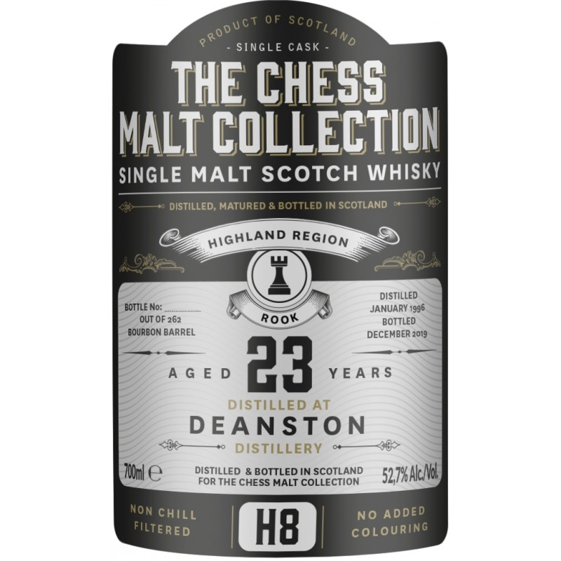 The Chess Malt Collection, Deanston, 1996 - 23 yo Bourbon Barrel - Black Rook - H8
