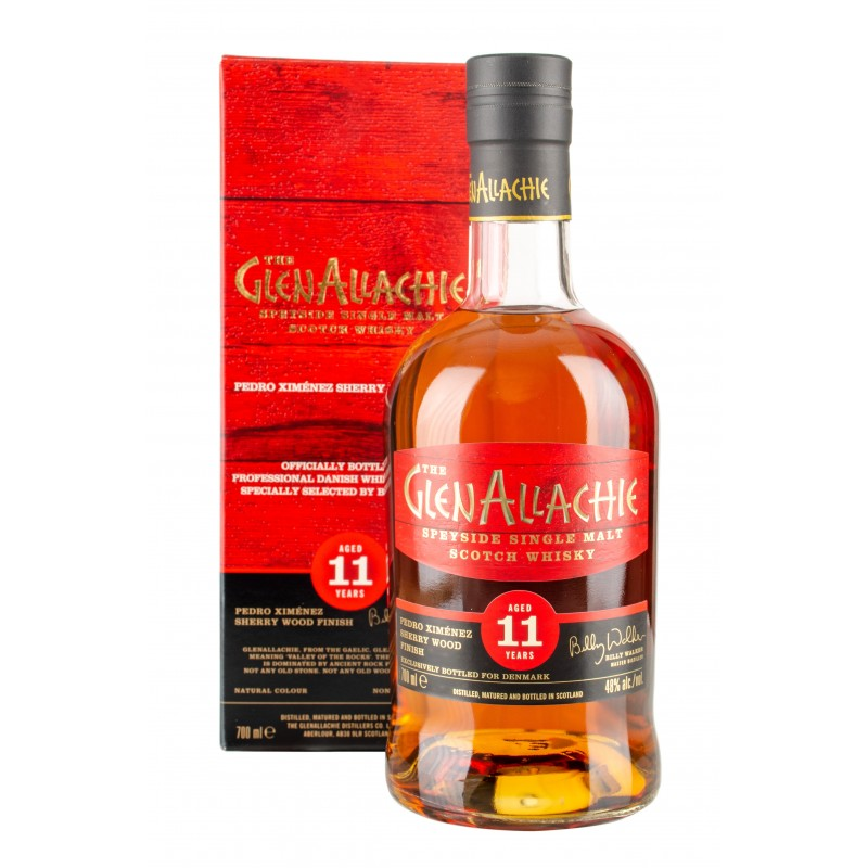 The GlenAllachie 11 års, Speyside Single Malt Whisky, Pedro Ximenez Sherry Cask