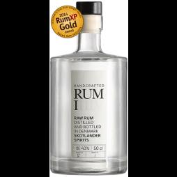 Skotlander Rum I, Raw White Rum BATCH 1 FLASKE 1