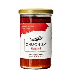 The Original Chu-Chum Red Chili Paste er en chili- og tomatpuré.