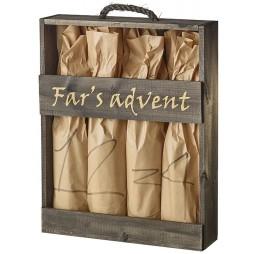Fars Advent, trækasse m. 4 juleøl