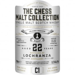 The Chess Malt Collection, Lochranza 22 års, Single Malt Whisky - The White Bishop - C1