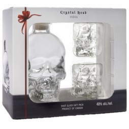 Crystal Head Vodka, Giftpack med 2 glas