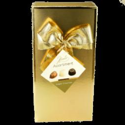 Fyldte belgiske chokolader – Guld æske, 125gr