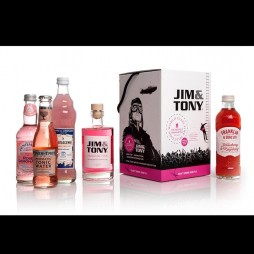 Jim and Tony, Gin og tonic, gaveæske, Premium Pink Kit