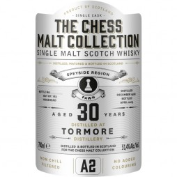The Chess Malt Collection, Tormore 30 års, Single Highland Malt Whisky - White Pawn - A2
