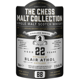 The Chess Malt Collection, Blair Athol 22 års, Single Highland Malt Whisky - Black Knight - B8t Whisky - Black Knight - B8