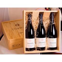 Tilenus Original trækasse med 3 forskellige flasker Tilenus, Bierzo
