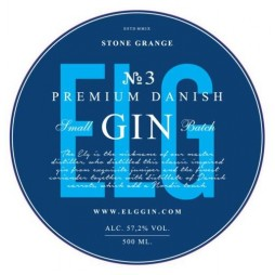 Elg Gin No. 3, Danish Premium Gin - Navy Strength