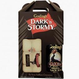 Gosling´s Dark and Stormy cocktailpakke, med en fl. Rom og 6 ds. Ginger Beer.