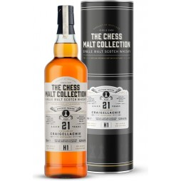 The Chess Malt Collection, Craigellachie 21 års, Single Malt Whisky - White Rook - H1